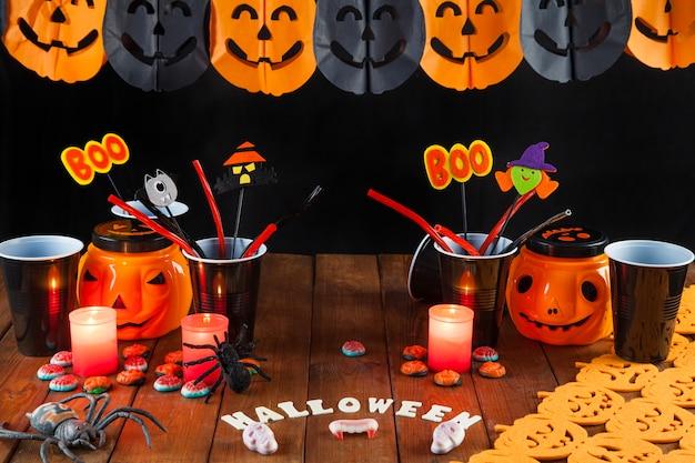 Table d'halloween pour fête