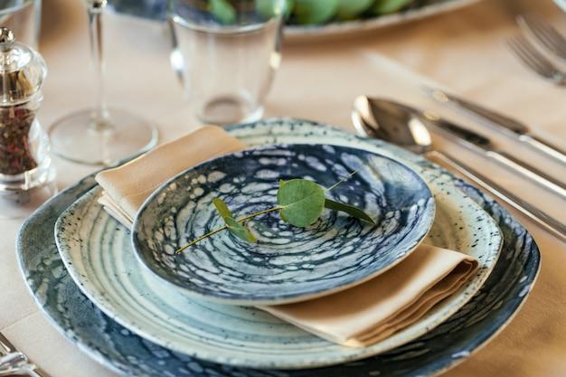 Table de luxe pour un événement dans un restaurant