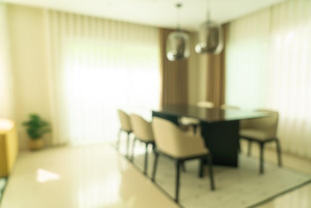 Table à manger flou abstrait à la maison pour la surface