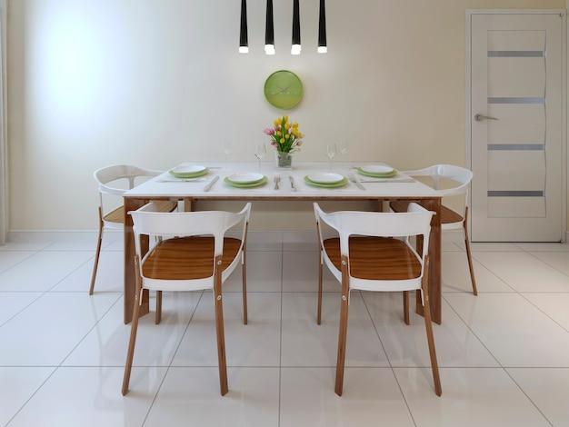 Table à manger de style contemporain