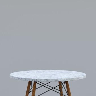 Table en marbre blanc ou support de produit pour produit d'affichage sur gris