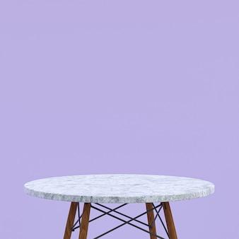 Table en marbre blanc ou support de produit pour produit d'affichage