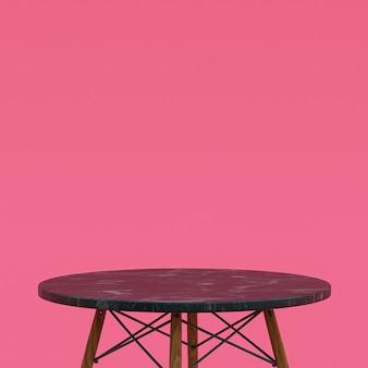 Table en marbre brun ou support de produit pour produit d'affichage sur rose