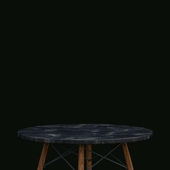 Table en marbre noir ou support de produit pour produit d'affichage sur fond noir