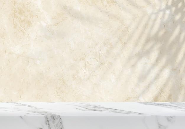 Table en marbre vide avec fond de produit de fond texturé en marbre jaune