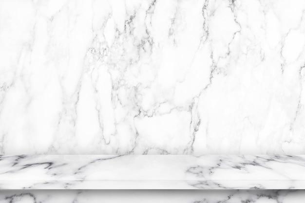 Table de marbre vide avec texture marbre