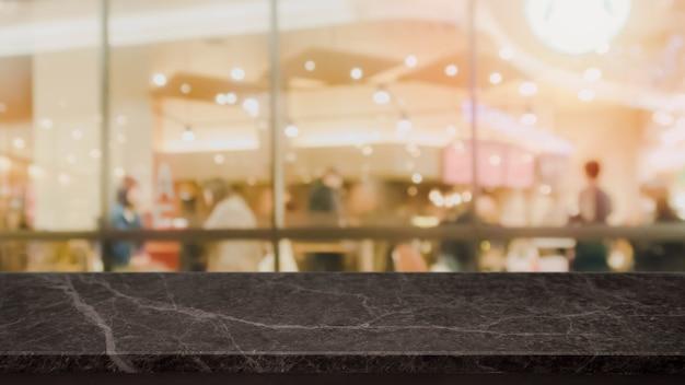 Table en pierre de marbre noir et café brouillé et café