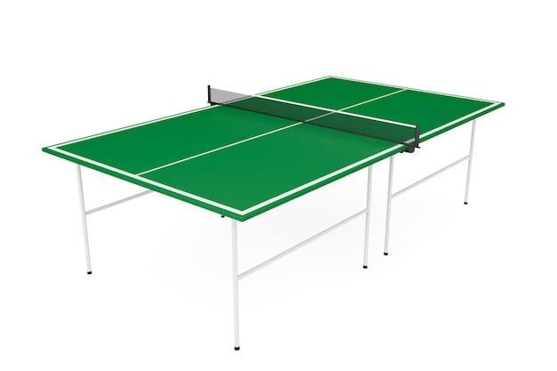 Table de ping-pong sur fond blanc