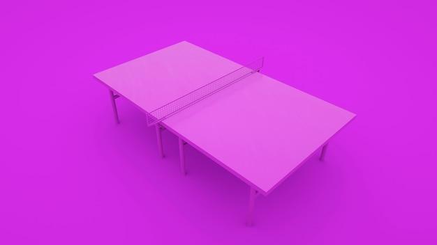 Table de ping-pong isolée sur fond violet
