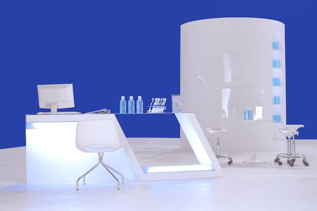 Table de réception et grande étagère ronde
