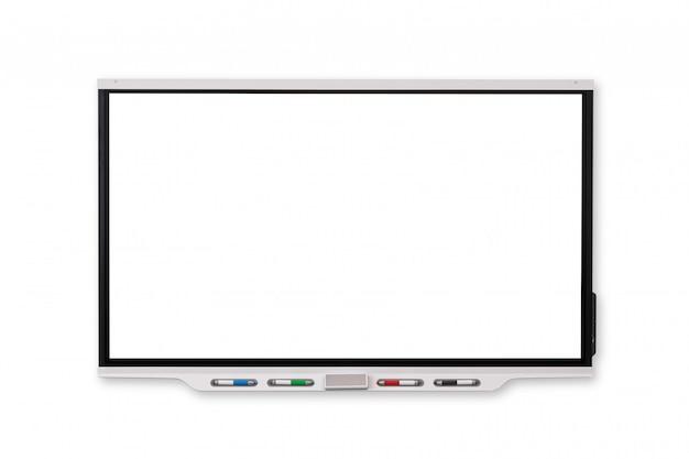 Tableau blanc interactif… fond isolé et blanc