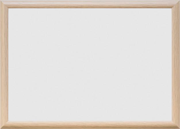 Tableau blanc vierge sur fond uni