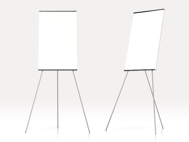 Tableau blanc vierge pour la publicité. rendu 3d.