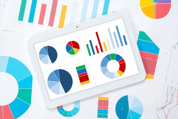 Tableau de bord coloré de tablette