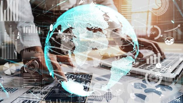 Tableau de bord commercial conceptuel pour l'analyse des données financières