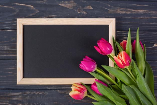 Tableau cadre avec des fleurs