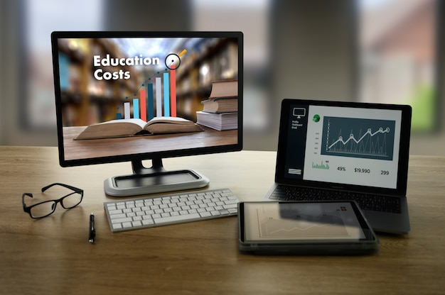 Tableau de l'éducation montrant une tendance à la hausse des coûts de l'éducation analyse financière