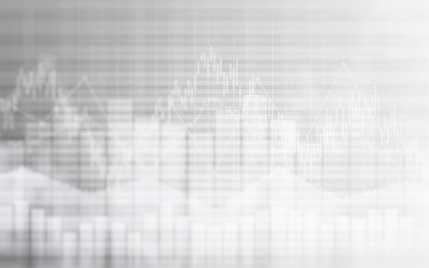 Tableau financier abstrait avec graphique