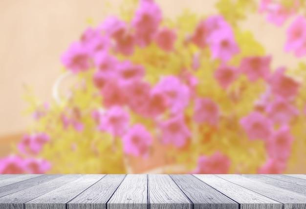 Tableau avec des fleurs floues