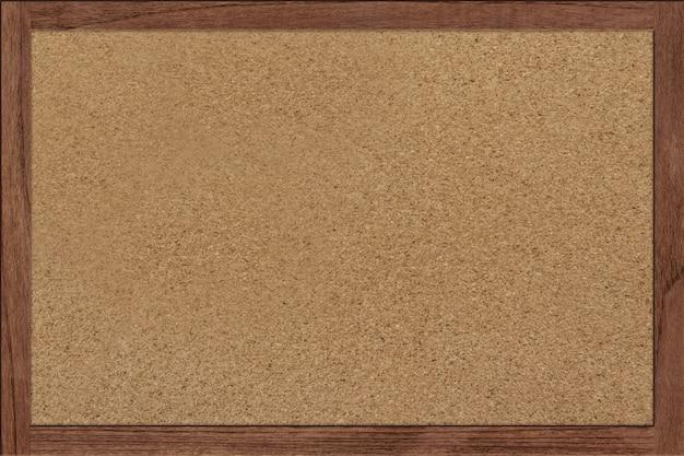 Tableau en liège avec cadre en bois