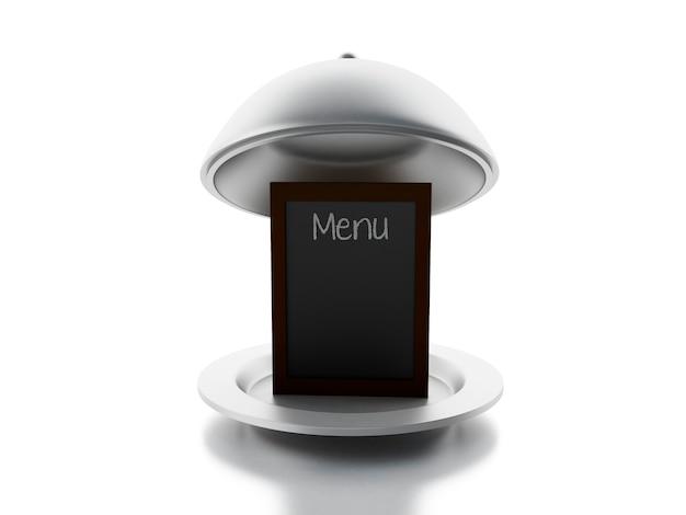Tableau de menu vide, fond blanc isolé