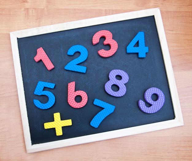 Tableau noir avec chiffres