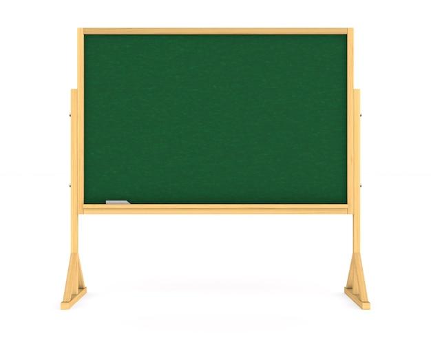 Tableau noir de l'école. rendu 3d isolé