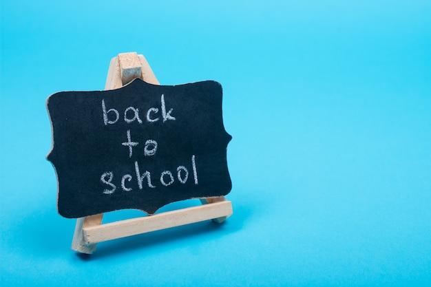 Tableau noir avec mots de rentrée des classes