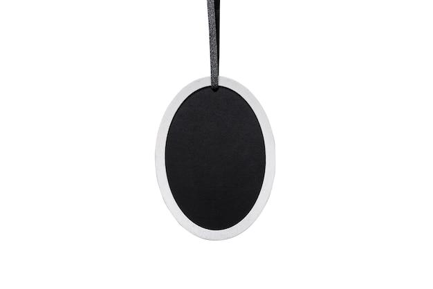 Tableau noir ovale, espace copie, isolé