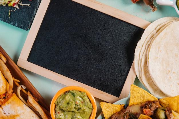 Tableau noir et tortillas