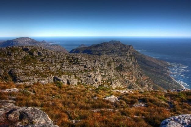 Tableau paysages de montagne hdr