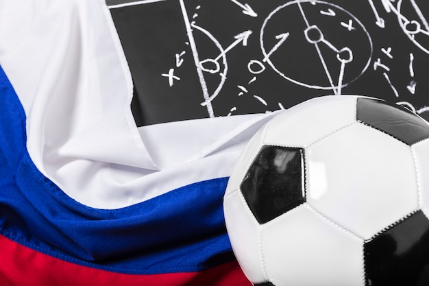 Tableau de plan de soccer avec tactique de formation