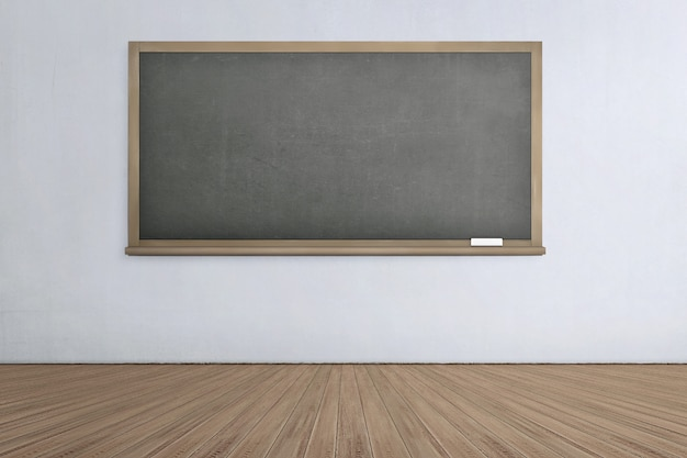 Tableau vide avec plancher en bois