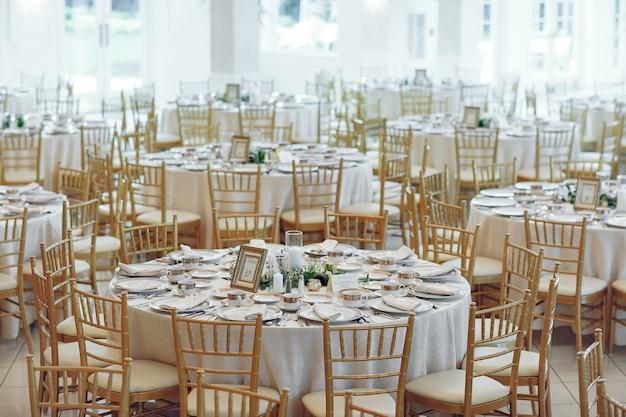 Tables de mariage élégantes