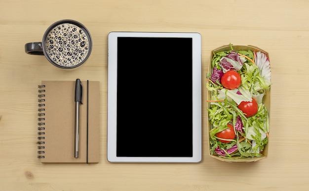 Tablette numérique café pour ordinateur portable sain