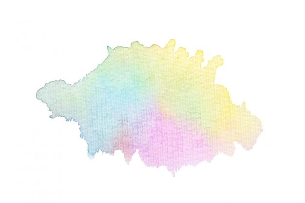 Tache d'aquarelle colorée