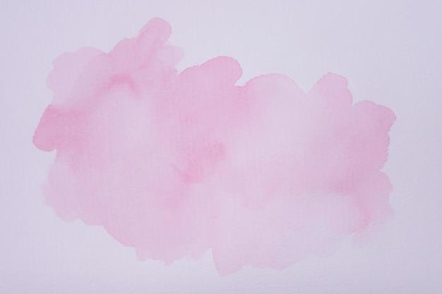 Tache d'aquarelle à plat sur papier