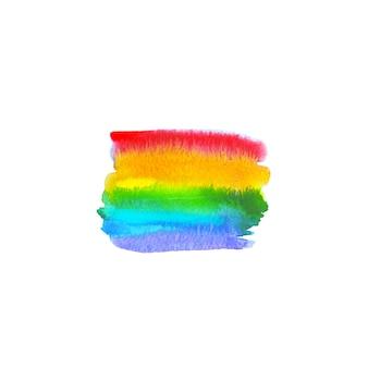 Tache arc-en-ciel colorée dessinée à la main à l'aquarelle. espace abstrait