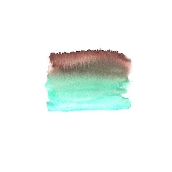 Tache colorée dessinée à la main à l'aquarelle abstraite. élément de design aquarelle. fond aquarelle bleu, turquoise, vert et marron.