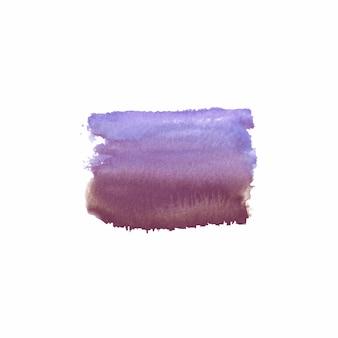 Tache colorée dessinée à la main à l'aquarelle abstraite. élément de design aquarelle. fond aquarelle violet, violet et marron.