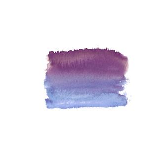 Tache colorée dessinée à la main aquarelle abstraite. élément de design aquarelle. fond bleu, violet et violet aquarelle.
