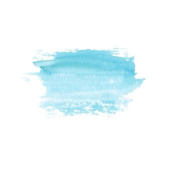 Tache dessinée à la main à l'aquarelle abstraite. élément de design aquarelle. fond bleu aquarelle.