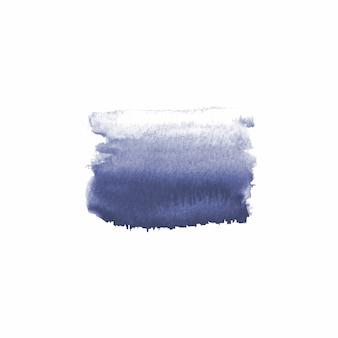 Tache dessinée à la main à l'aquarelle abstraite. élément de design aquarelle. fond marine aquarelle.