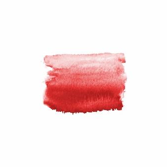 Tache dessinée à la main à l'aquarelle abstraite. élément de design aquarelle. fond rouge sang aquarelle.