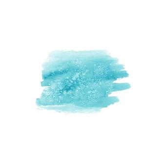 Tache dessinée à la main à l'aquarelle abstraite. élément de design aquarelle. fond turquoise aquarelle.