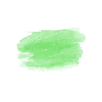 Tache dessinée à la main à l'aquarelle abstraite. élément de design aquarelle. fond vert aquarelle.