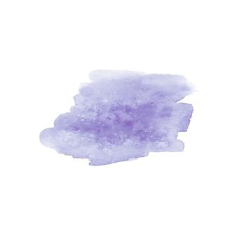Tache dessinée à la main à l'aquarelle abstraite. élément de design aquarelle. fond violet aquarelle.