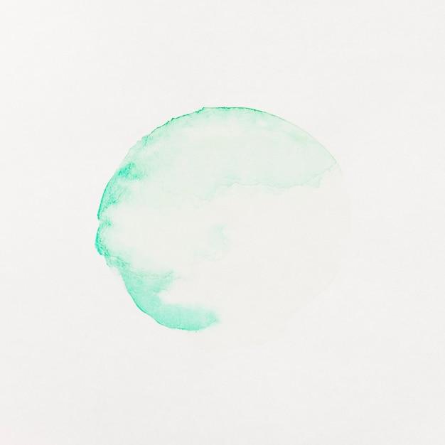 Tache pastel de verre avec de la peinture aquarelle