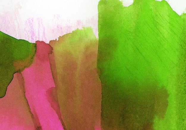 Tache rose et verte