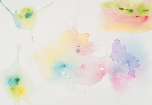 Des taches d'aquarelle brillante